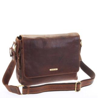 Hnědá luxusní velká kožená taška - Sendi Design Hermes hnědá