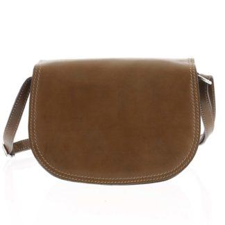Menší hnědá crossbody kožená kabelka - ItalY Zoya hnědá