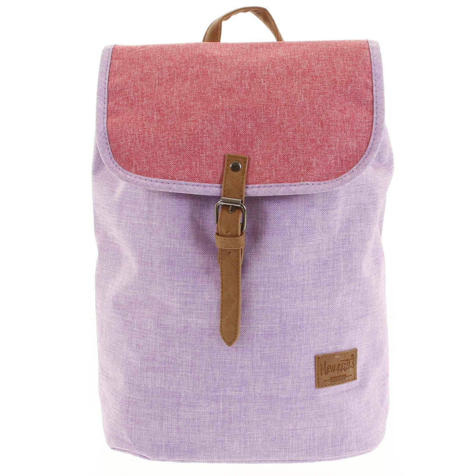 Elegantní látkový fialovo růžový batoh - New Rebels Morpheus fialová