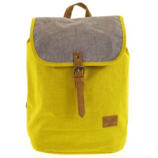 Elegantní látkový žluto šedý batoh - New Rebels Morpheus žlutá