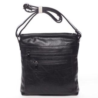 Moderní střední crossbody kabelka černá - Delami Karlie černá