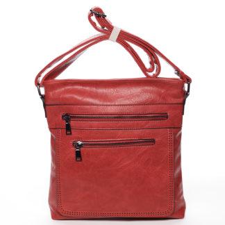Moderní střední crossbody kabelka červená - Delami Karlie červená