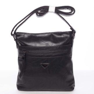 Trendy měkká crossbody kabelka černá - Delami Devyn černá