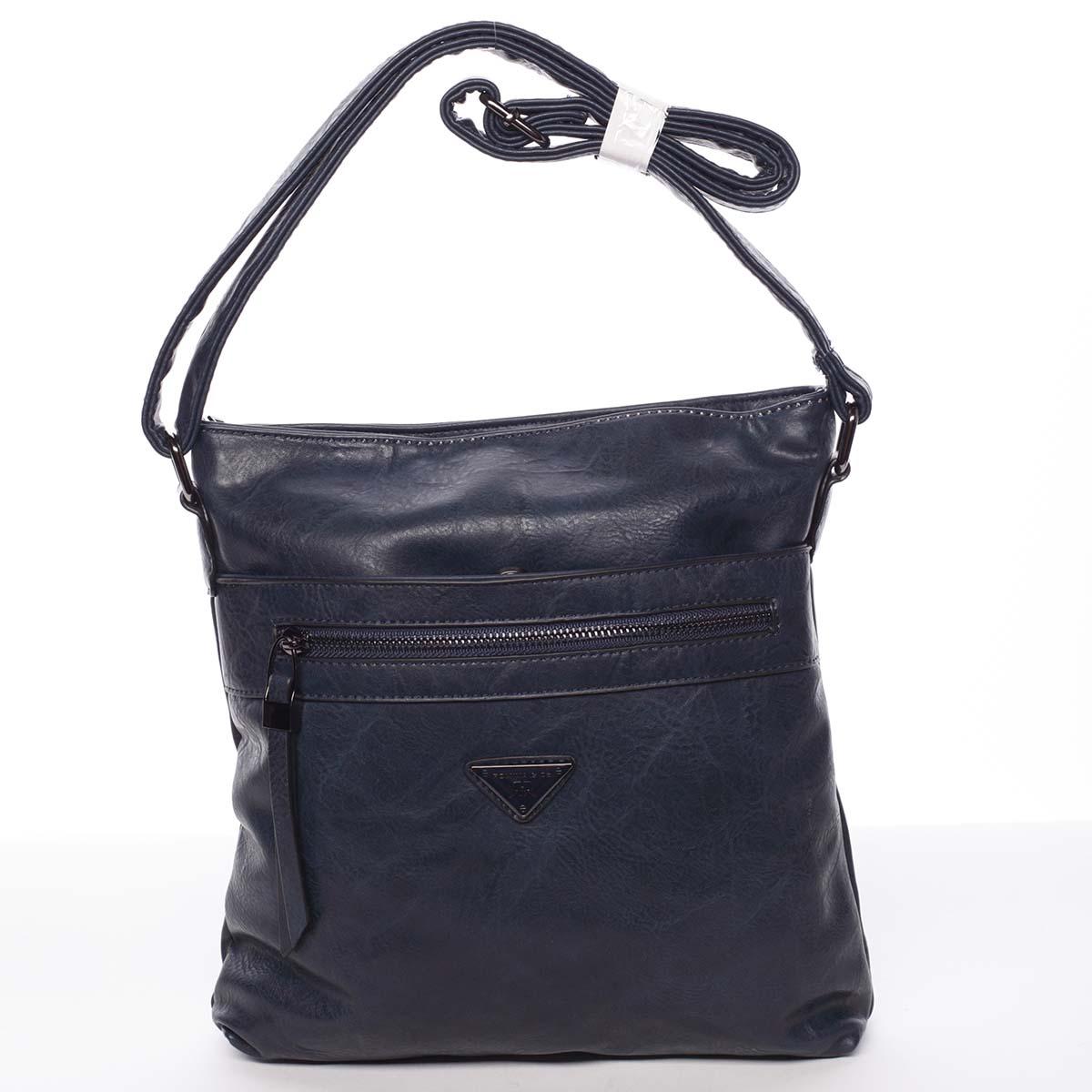 Trendy měkká crossbody kabelka modrá - Delami Devyn modrá