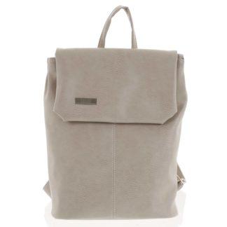 Větší měkký dámský moderní tmavě béžový batoh - Ellis Elizabeth JR béžová