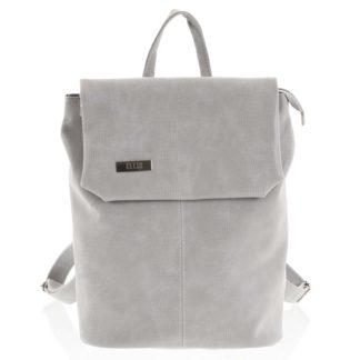Větší měkký dámský moderní světle šedý batoh - Ellis Elizabeth  šedá