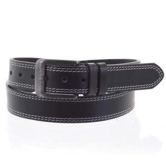 Pánský kožený opasek jeansový černý - PB Sadoc 115 černá