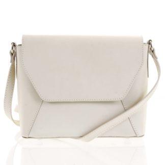 Béžová dámská kožená crossbody kabelka - ItalY Dunya Two béžová