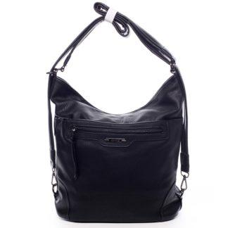 Dámská kabelka batoh černá - Romina Zilla černá