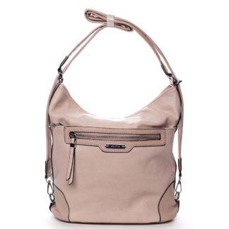 Dámská kabelka batoh růžová - Romina Zilla růžová
