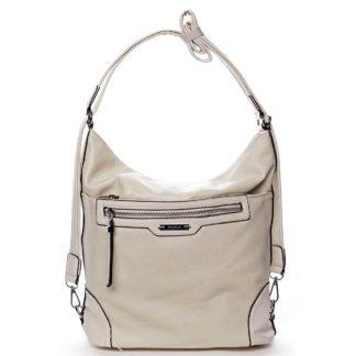 Dámská kabelka batoh světle béžová - Romina Zilla béžová