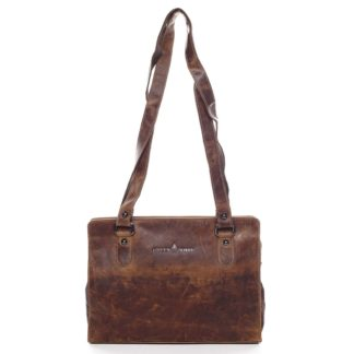 Dámská kožená kabelka přes rameno hnědá - Greenwood Kamille hnědá