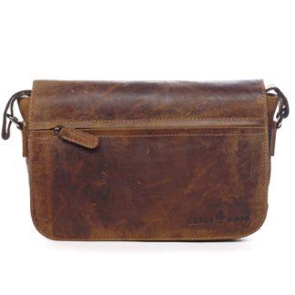 Kožená taška přes rameno hnědá - Greenwood Aboutus hnědá