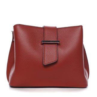 Dámská kožená crossbody kabelka červená - ItalY Euren červená