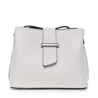 Dámská kožená crossbody kabelka bílá - ItalY Euren bílá