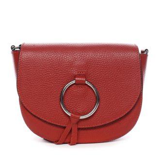 Dámská kožená crossbody kabelka červená - ItalY Vaiana červená