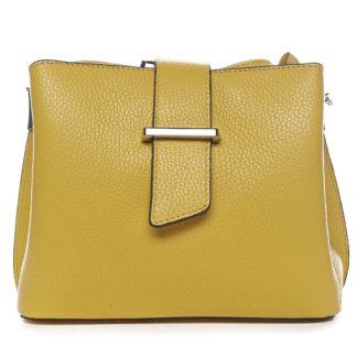Dámská kožená crossbody kabelka žlutá - ItalY Euren žlutá