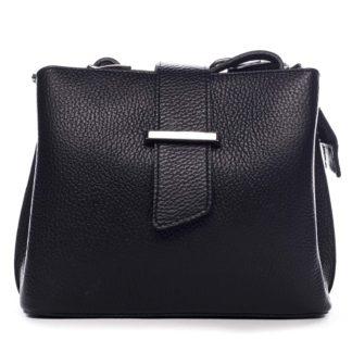 Dámská kožená crossbody kabelka černá - ItalY Euren černá