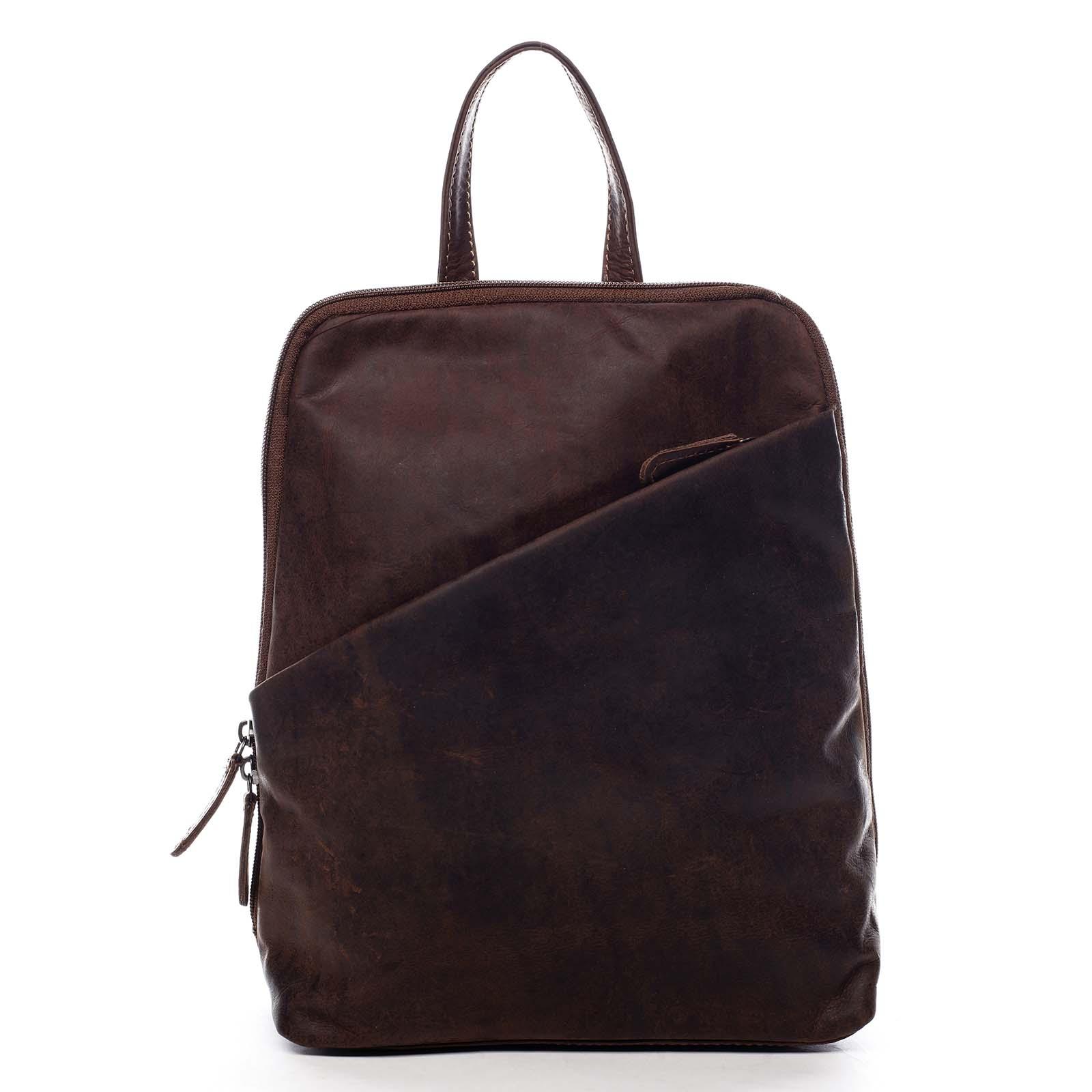 Dámský kožený batůžek hnědý - Greenwood Conan hnědá