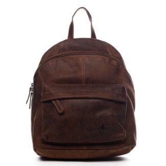 Dámský kožený batoh hnědý - Greenwood Franz hnědá