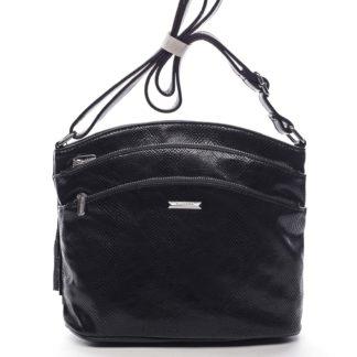 Dámská crossbody kabelka černá - Silvia Rosa Billie Snake černá