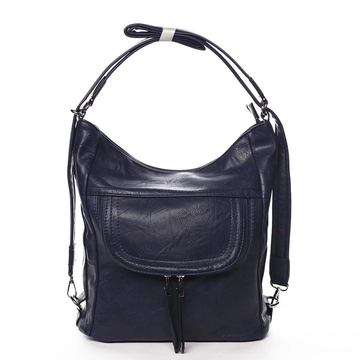Dámská kabelka batoh tmavě modrá - Romina Godzilla tmavě modrá
