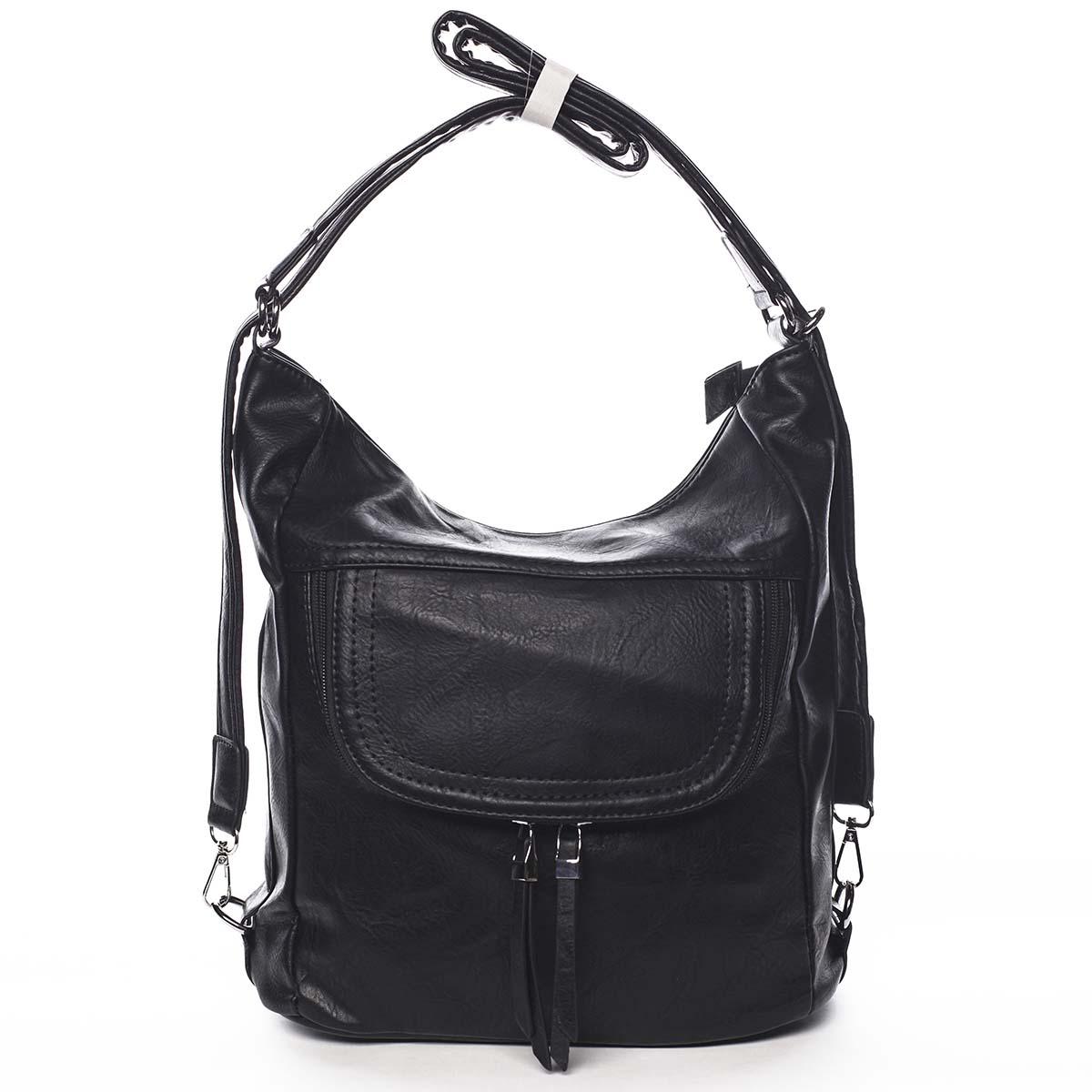 Dámská kabelka batoh černá - Romina Godzilla černá
