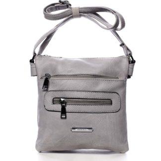 Dámská crossbody kabelka světle šedá - Romina Chasing šedá