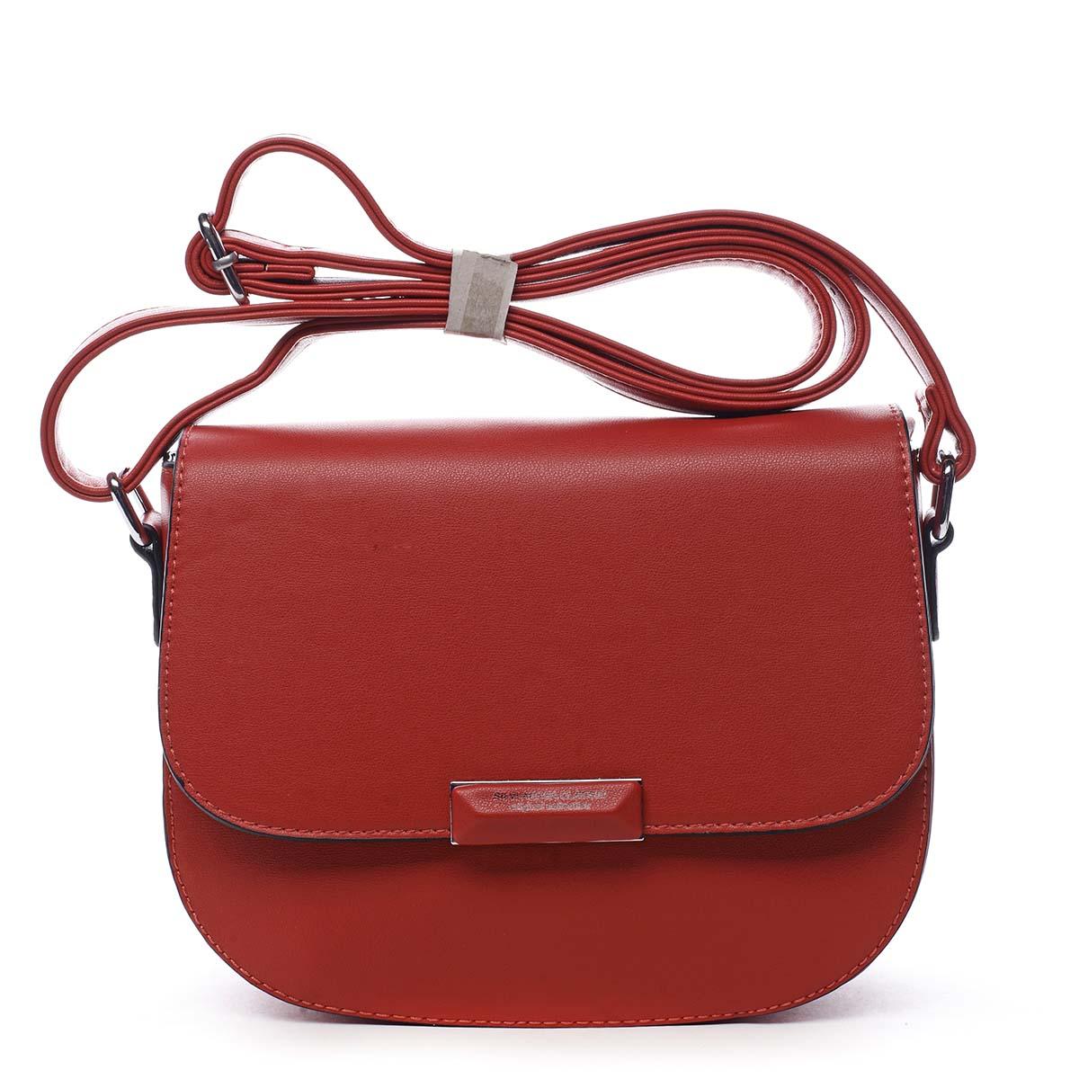 Dámská crossbody kabelka červená - Silvia Rosa Wanda červená
