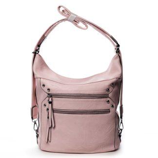 Dámská kabelka batoh růžová - Romina Alfa růžová