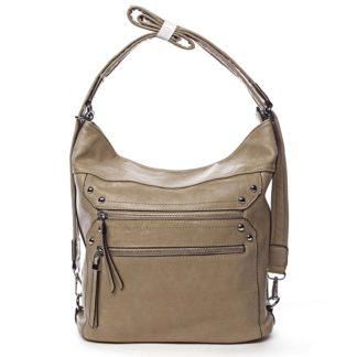 Dámská kabelka batoh tmavě béžová - Romina Alfa béžová