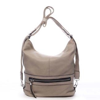 Dámská kabelka batoh tmavě béžová - Romina Lazy béžová
