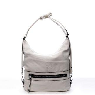 Dámská kabelka batoh světle šedá - Romina Lazy šedá