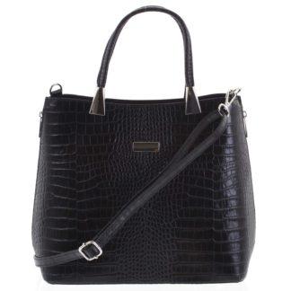 Luxusní dámská kožená kabelka černá - ItalY Marion černá