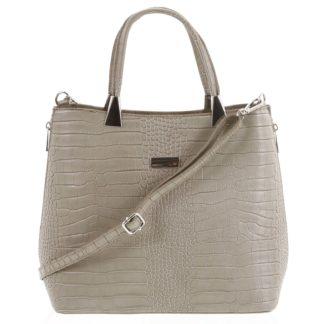 Luxusní dámská kožená kabelka taupe - ItalY Marion taupe