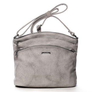 Dámská crossbody kabelka světle šedá - Silvia Rosa Ubuhle šedá