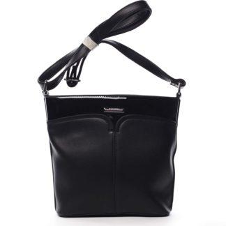 Dámská crossbody kabelka černá - Silvia Rosa Enegmi černá