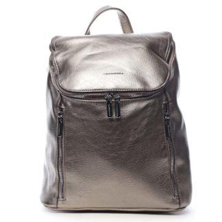 Dámský batoh stříbrný - Silvia Rosa Bruno stříbrná