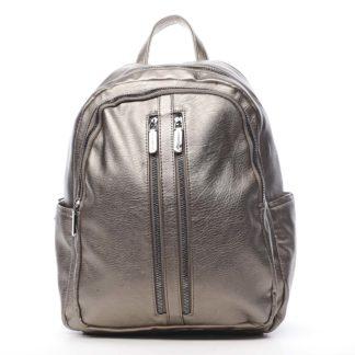 Dámský batoh stříbrný - Silvia Rosa Lalela stříbrná