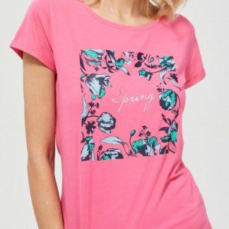 Moodo růžové tričko s potiskem