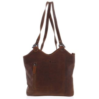 Dámská kožená kabelka batoh hnědá - Greenwood Ambision hnědá