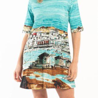 Orientique tyrkysové šaty Windmills s kapsami