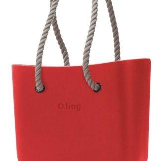 O bag kabelka Rosso s dlouhými provazovými držadly natural