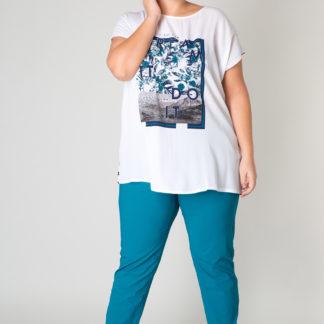 Yesta bílé dámské tričko Juliette s barevnými motivy