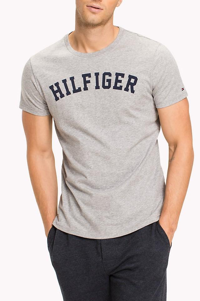 Tommy Hilfiger šedé pánské tričko SS Tee Logo