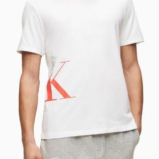 Calvin Klein bílé tričko S/S Crew Neck logo