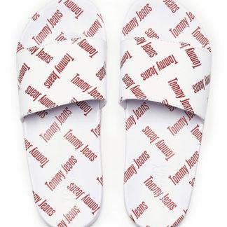 Tommy Hilfiger bílé pantofle Allover Print Pool Slide