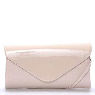 Luxusní velké dámské psaníčko pudrové matné - Delami LasVegas růžová