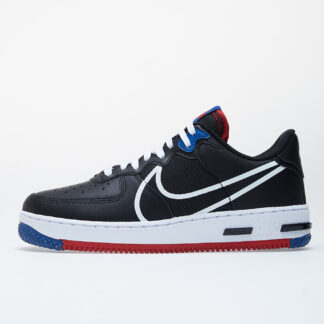 Nike Air Force 1 React Black/ White-Gym Red-Gym Blue