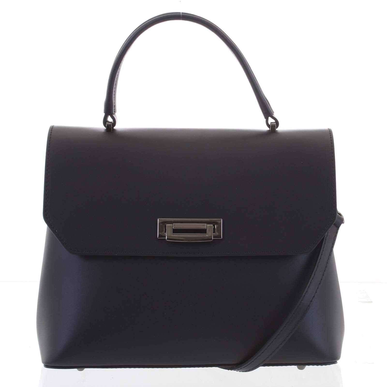 Originální hladká černá dámská kabelka do ruky - ItalY Neolila černá